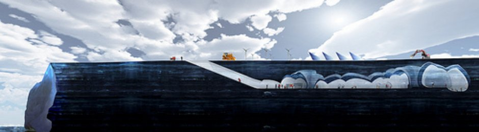 South Pole Section, Iceberg Living Station, MAP Architects