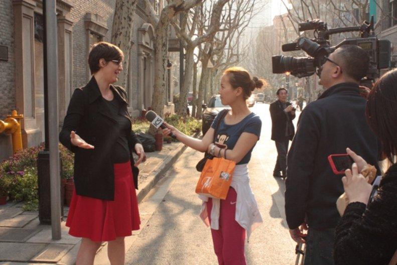 Media Interview with Barbara Kaucky. Photo: Antonia Faust