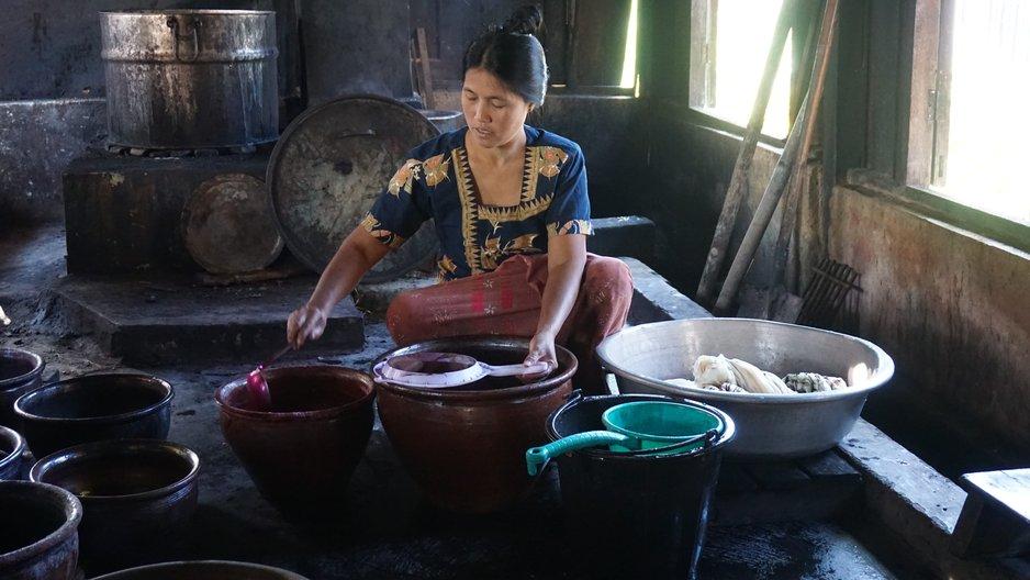 Dyeing in Inle Lake, Myanmar. Photo by Ja Htoi Pan