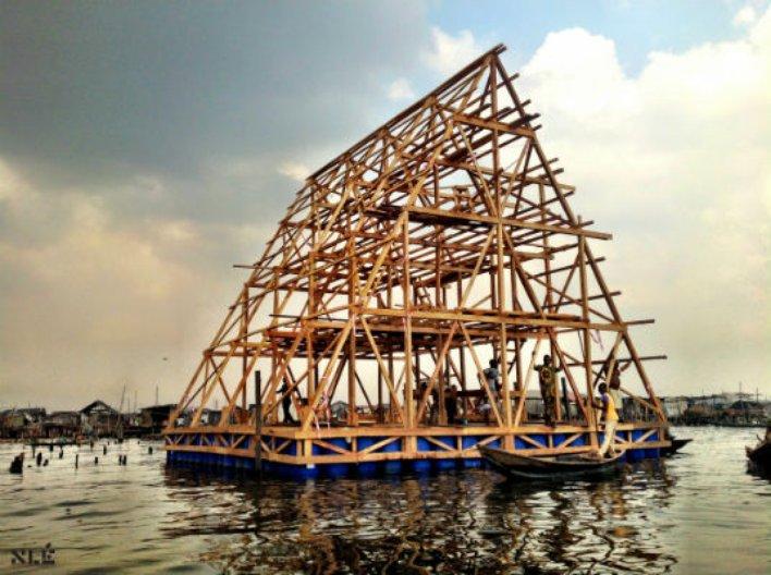 Makoko Floating School. Image courtesy of NLÉ