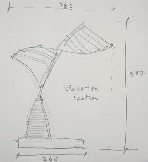 Award Sketch. Image courtesy of Tomoko Azumi