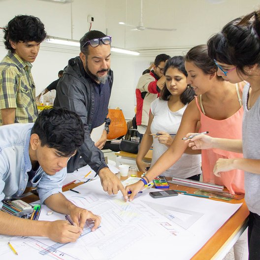 Some of the students design ideas on a public site at the University Hospital © Rui Cordovez