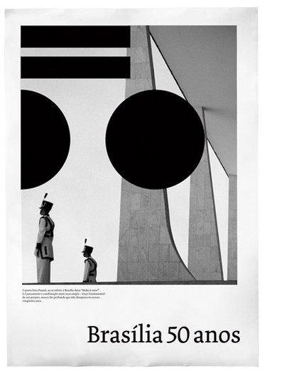 50 Years Brasilia Anniversary poster design © Studio Rejane Dal Bello