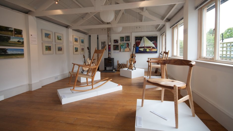 The resident's studio in Ditchling