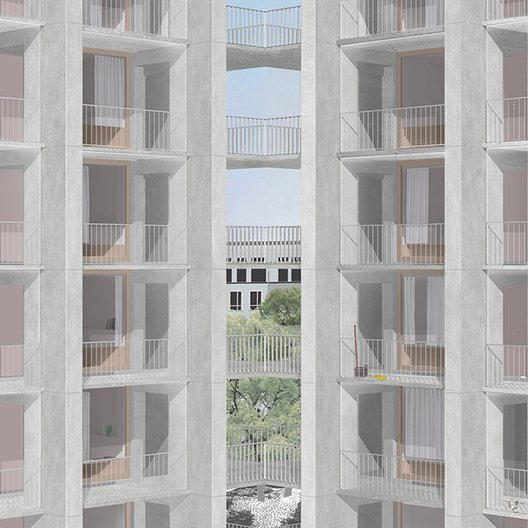 ROOMS WITHOUT FUNCTION Proposal for a collective housing model in Stockholm, Sweden. © Hesselbrand