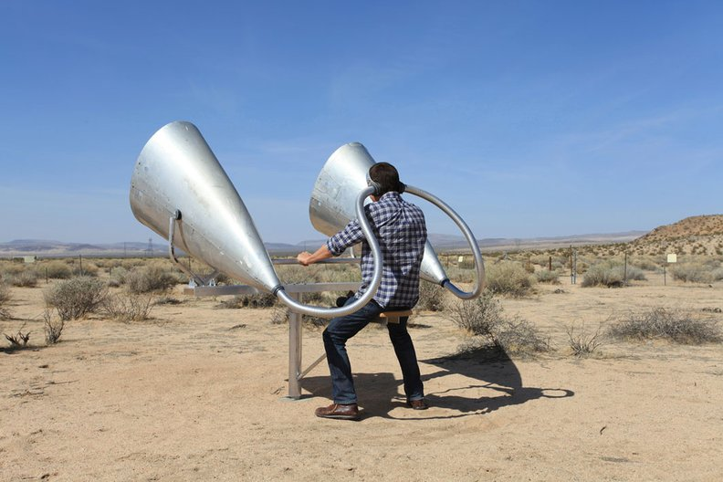 Smout Allen - Waiting for the sonic boom at CLUI's Desert Research Station