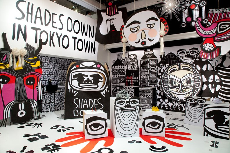 'Shades Down in Tokyo Town' Tokyo, 2012. Curation & Exhibition Design: HEDMANKLING Photo: Tomohiro Horiuchi