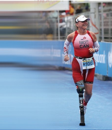 Athlete with Prosthetic designed by Saeed Zahedi