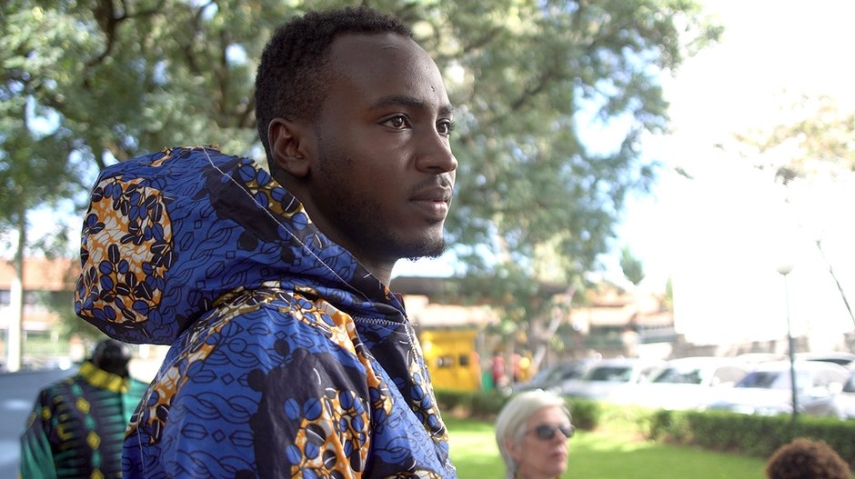 Samir Breezy wearing the hoodie Nairobi Design Week