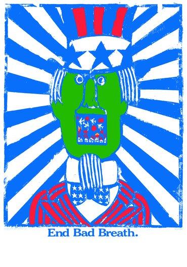End bad breath, 1967 Seymour Chwast