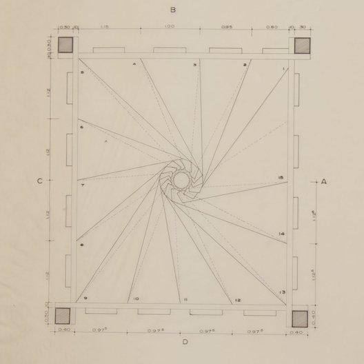 Plan of staircase at Solar do Unhão © Instituto Lina Bo e P. M. Bardi