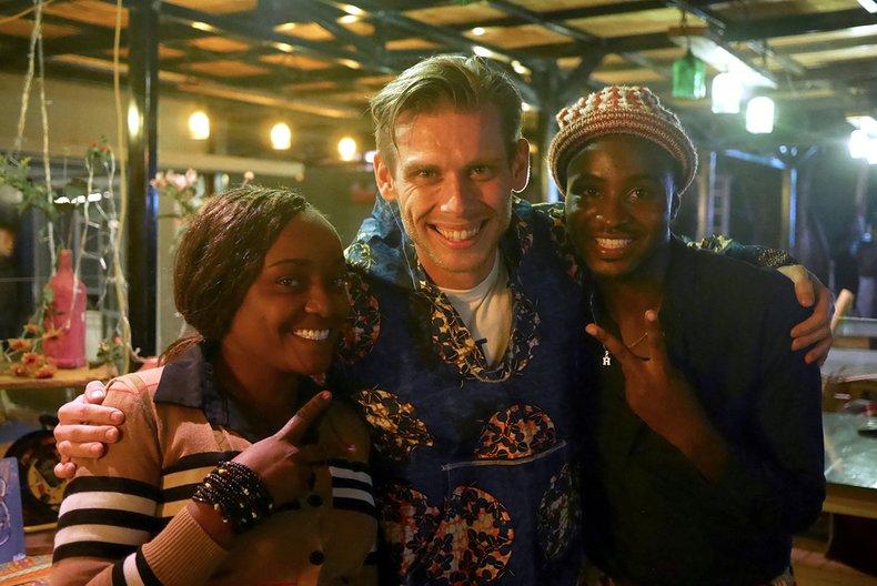 Tabisha Esperanza, Adrian Jankowiak andSamir Breezy at Nairobi Design Week 2018 Nairobi Design Week