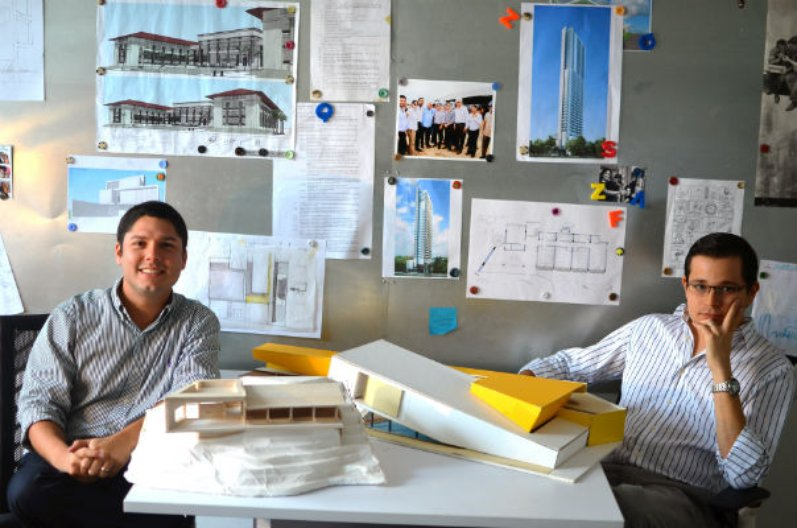 David Tapia and Rafael Watson in their studio. Image courtesy of the architects.