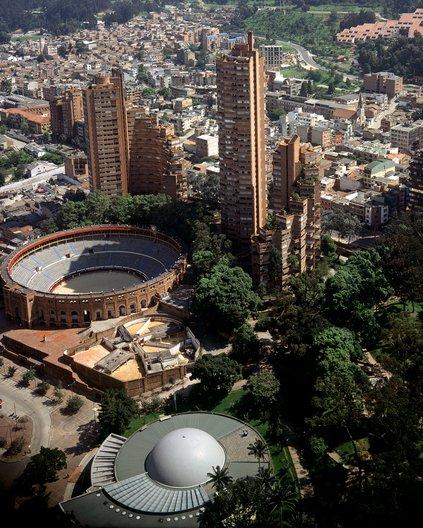 Torres del Parque by Rogelio Salmona Photo by Enrique Guzmán © Fundación Rogelio Salmona