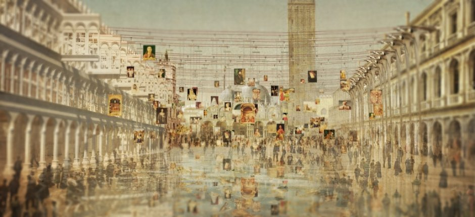 Oxford Brookes Architecture Graduate Show. Image: Uieong To   Proposal For  The Venetian Replica Paintings Centre