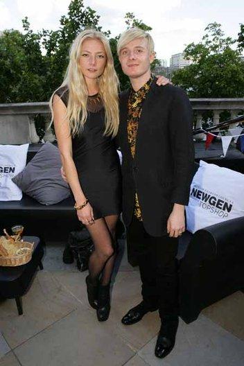 Claret Paget wearing Dominic Jones jewellery and Dominic Jones