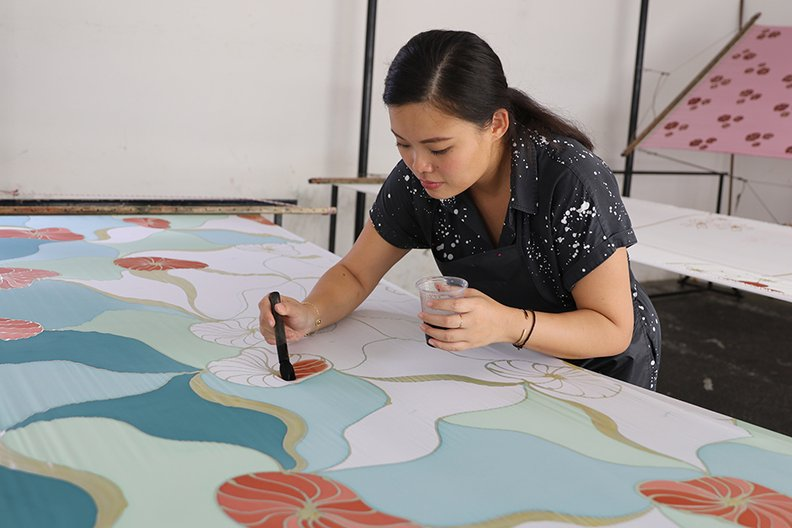 Fern Chua - creative director specialising in batik from Malaysia British Council