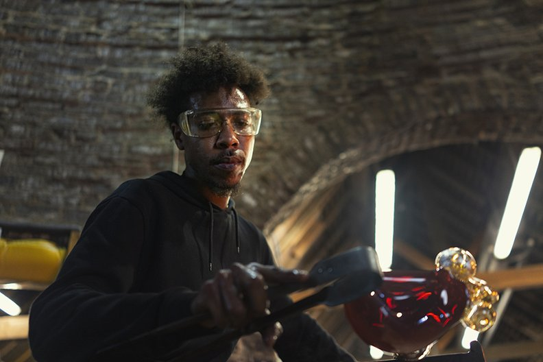 Jahday Ford - Glassblower from the UK British Council