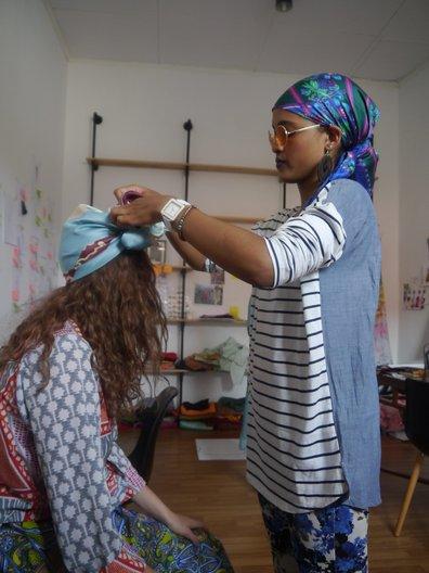 Modest head dressing with beautiful fabrics