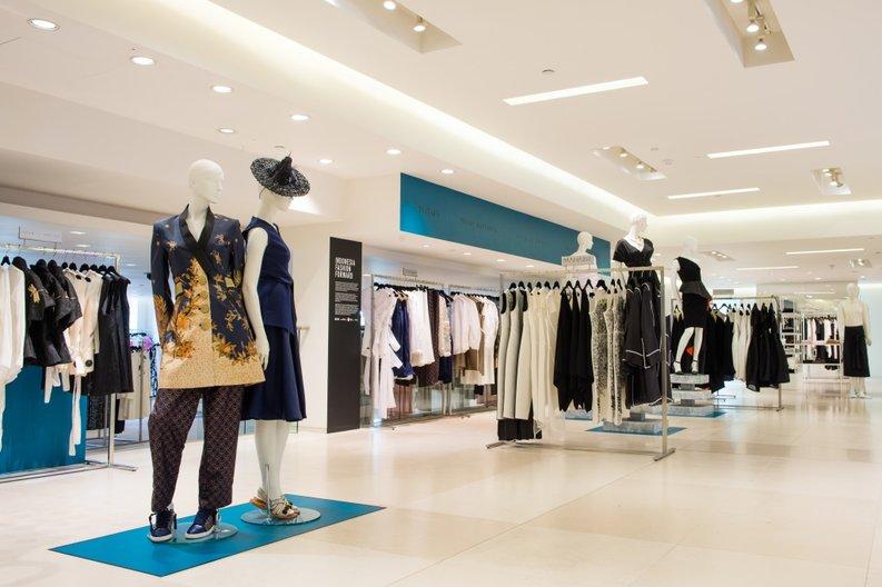 Indonesia Fashion Forward pop-up shop and windows at Fenwicks