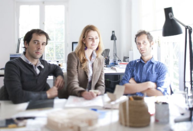Alejandro Beals, Loreto Lyon and Matias Zeger in their studio. Image courtesy of Alejandro Beals.