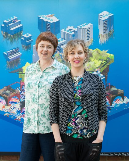Furtherfield's Co-Founder and Co-Artistic Director, Ruth Catlow and Executive Director, Charlotte Frost © Furtherfield