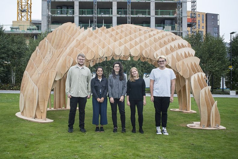 Intervention Architecture team by one of their designed projects Pavilion Babs Intervention Architecture