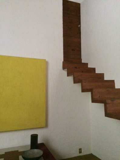 The famous 'floating' staircase at Casa Luis Barragán photo: João Guarantani