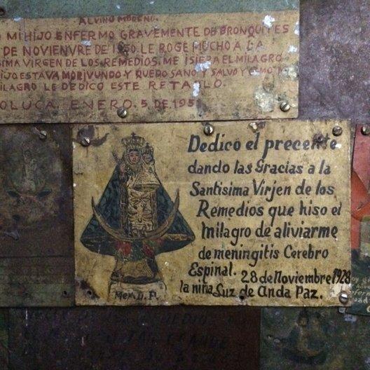 Exvotos at Basílica de los Remedios photo: João Guarantani