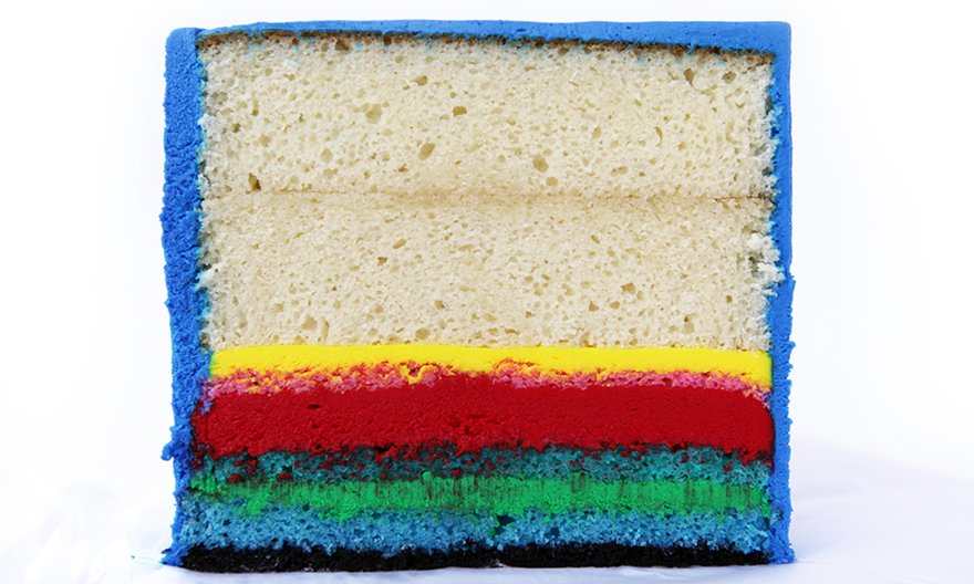 Let them eat cake! (2015-17) by FRAUD. An edible version of a Facebook profile. ©FRAUD̸