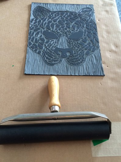 Lino print and roller