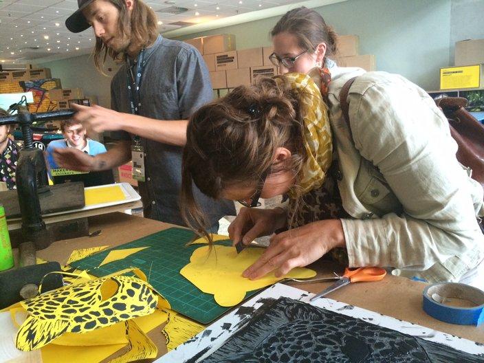 Leopard masks process
