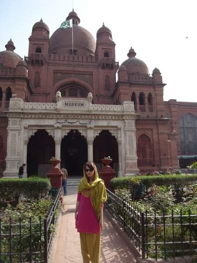 Me in front of the Lahore Museum