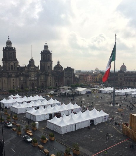 The Zócalo, Mexico City's main square photo: João Guarantani