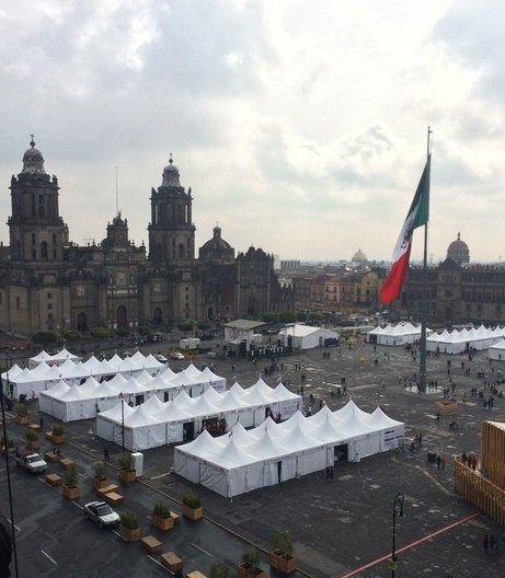 The Zócalo, Mexico City's main square photo: João Guarantani
