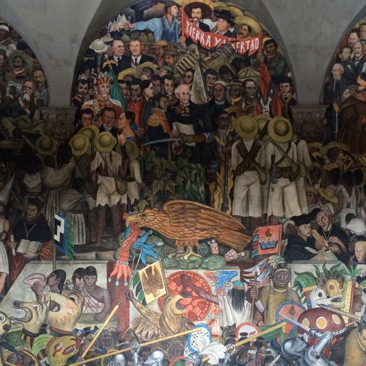 Diego Rivera's iconic murals at Palácio Nacional photo: João Guarantani