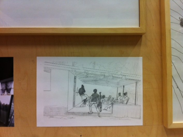 'Children playing in the cafe' drawing by Imran Sabur; photo by Dorota Drajewicz