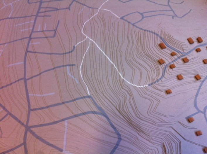 'Topography of the city 2012' model by Odel Jeffries; photo by Dorota Drajewicz