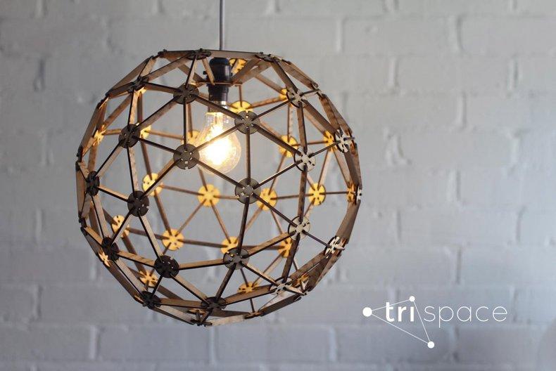 Tri-Space lamp  Michael Obrizkiv